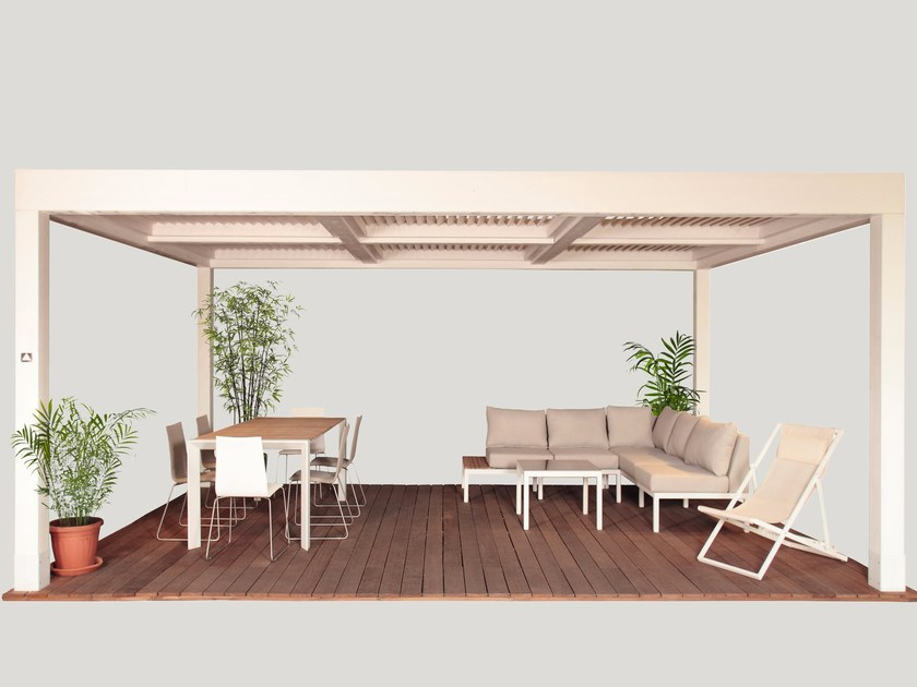 Pergolato in legno lamellare MEDITERRANEO - Progettoelleci by Lo Castro