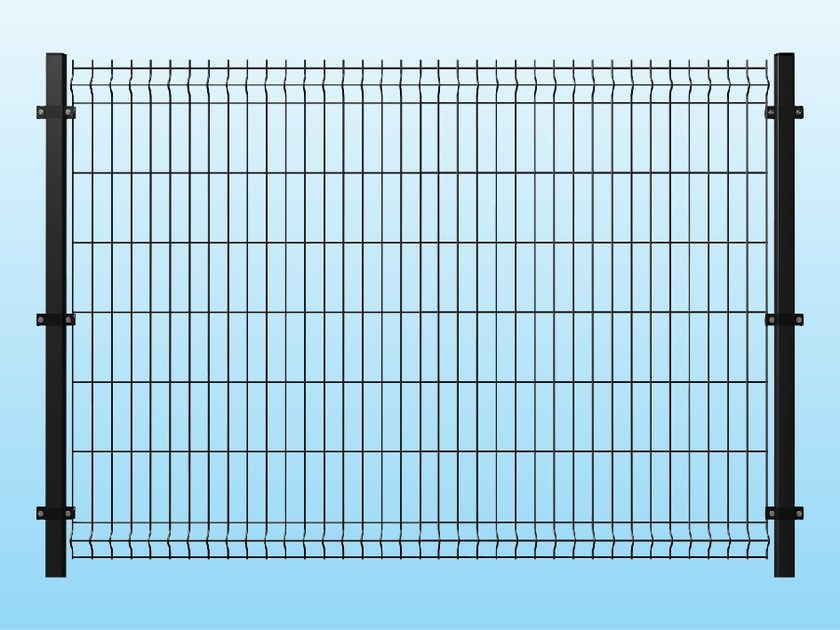 Modular electrically welded mesh Fence MEDIUM ANTHRACITE - Siderurgica Ferro Bulloni