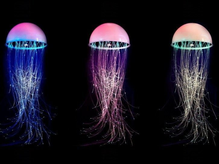 Fiber optic RGB pendant lamp MEDUSA | Pendant lamp - Quasar