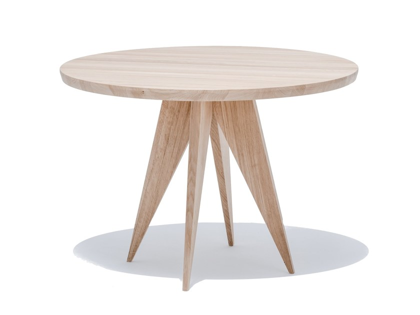 Round English oak dining table MEDUSA - ST FURNITURE