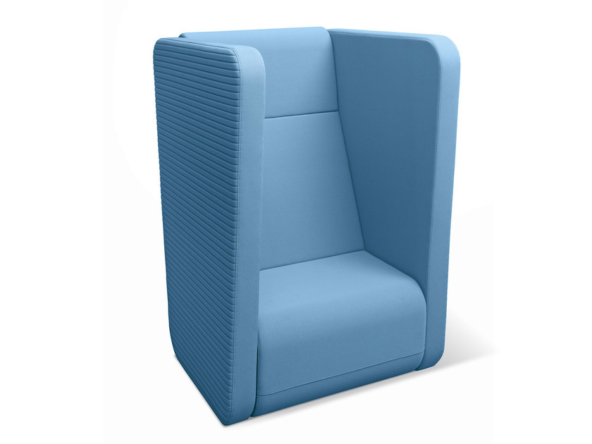 Upholstered high-back armchair MEETING PORT KM/BR-01 - LD Seating