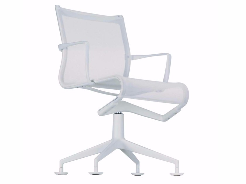 Swivel mesh task chair with armrests MEETINGFRAME+ - 467 - Alias