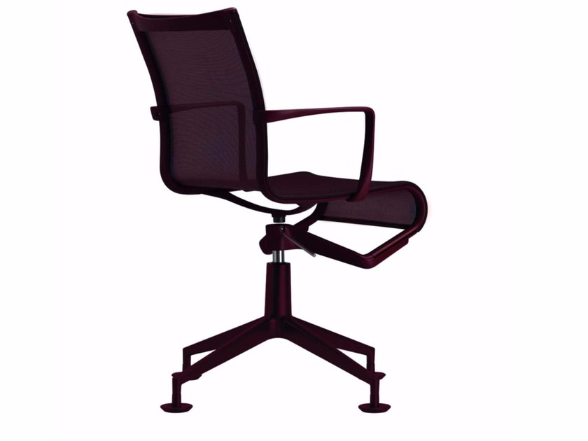 Swivel mesh task chair with armrests MEETINGFRAME COLORS - 437_C - Alias