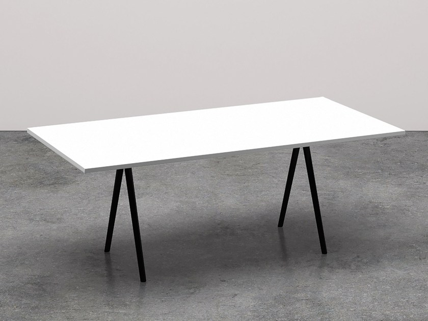 Rectangular meeting table MEETY | Rectangular meeting table - Arper