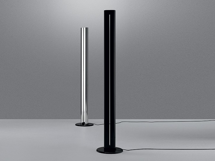 Indirect light aluminium floor lamp MEGARON - Artemide
