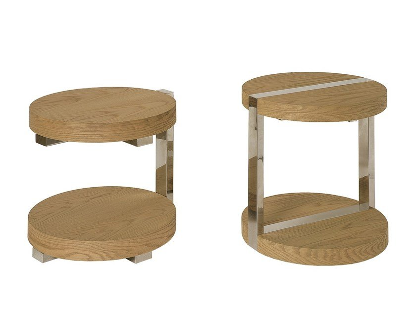 Lacquered round MDF side table MEIA PRAIA | Side table - Branco sobre Branco