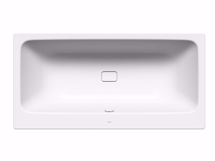 Asymmetric freestanding enamelled steel bathtub MEISTERSTÜCK ASYMMETRIC DUO - Kaldewei Italia