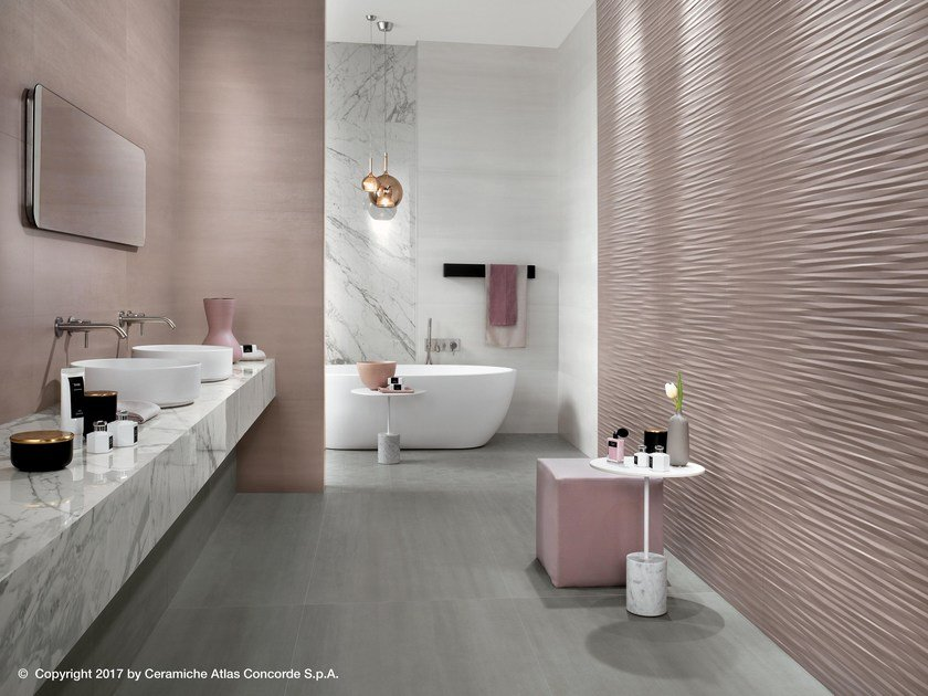 White-paste 3D Wall Cladding MEK WALL | 3D Wall Cladding by Atlas Concorde