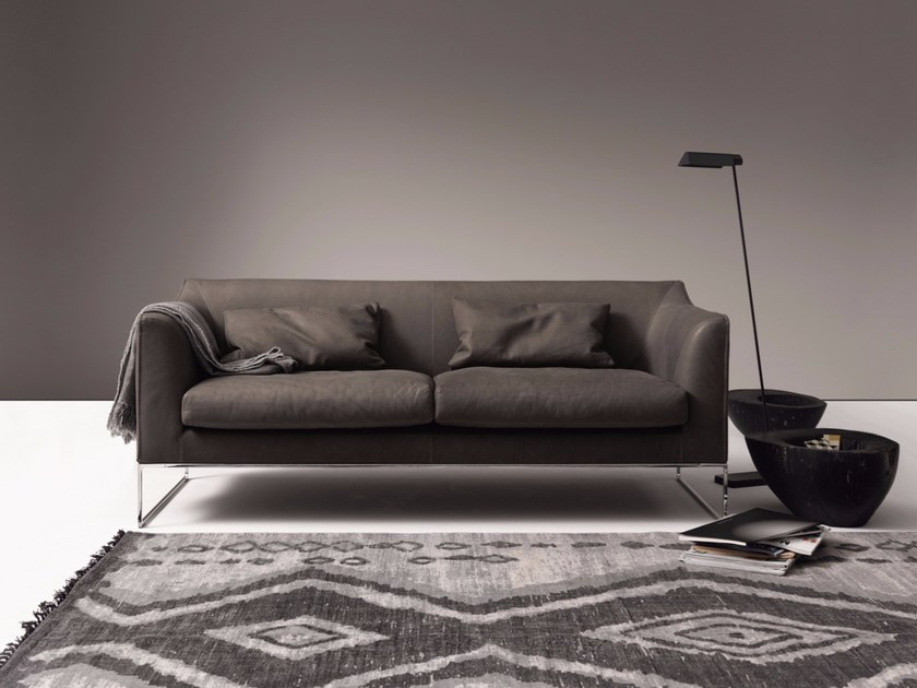 Contemporary style upholstered leather sofa MELL HIGH BACK - COR Sitzmöbel Helmut Lübke