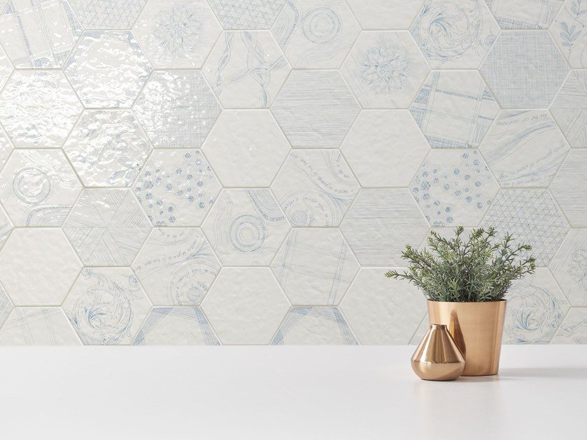 Glazed stoneware wall tiles MELOGRANO | Wall tiles by ORNAMENTA