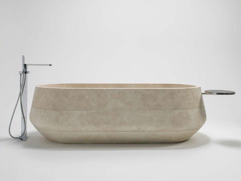 Freestanding oval natural stone bathtub MEN{H}IR | Bathtub - L'Antic Colonial