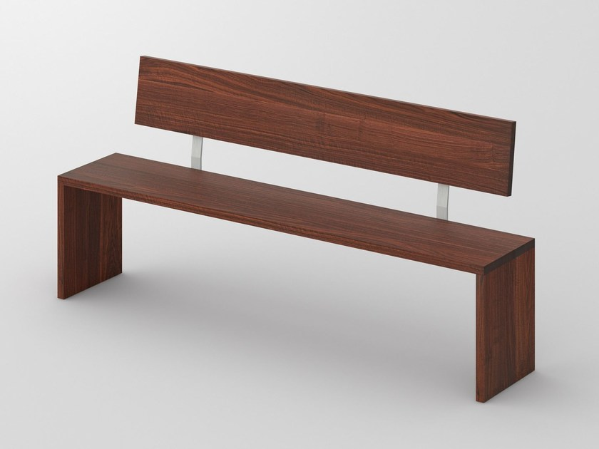 Solid wood bench with back MENA | Bench with back - vitamin design