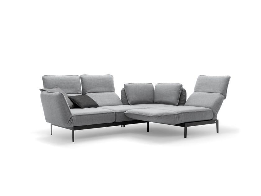Divano angolare componibile con chaise longue mera divano angolare rolf benz - Divano componibile angolare ...