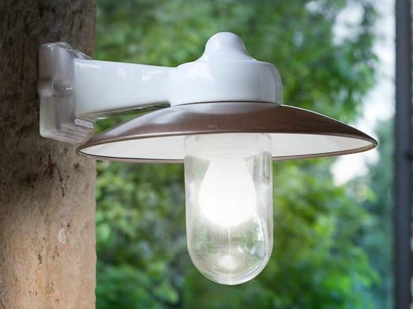 Direct-indirect light porcelain stoneware wall lamp MERANO | Wall lamp - Aldo Bernardi
