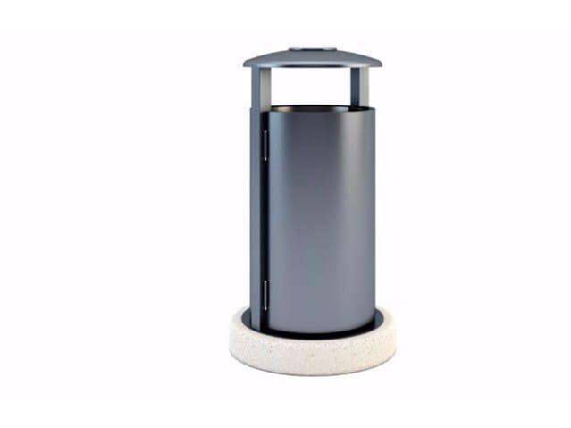 Outdoor stainless steel waste bin with lid MERCURIO - Bellitalia