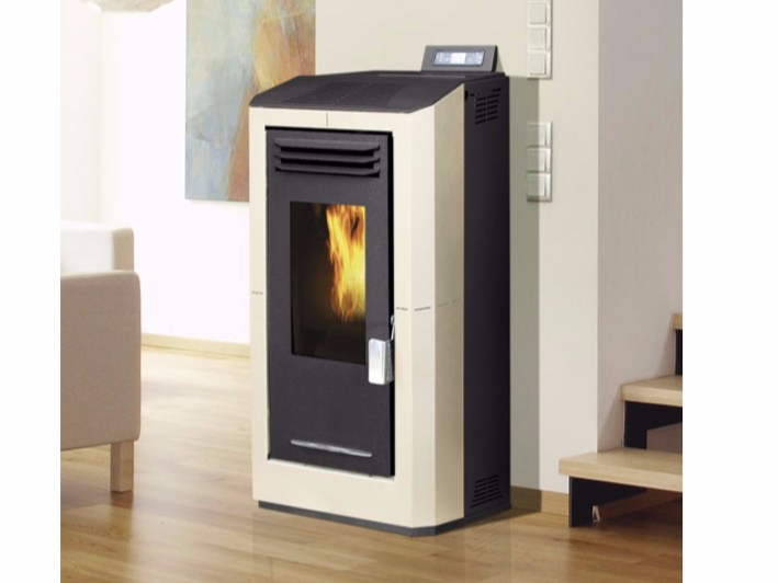 Pellet wall-mounted stove MERCURY AIR PELLET - Fintek