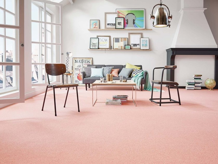 Solid-color carpeting MERIDA by Vorwerk Teppichwerke