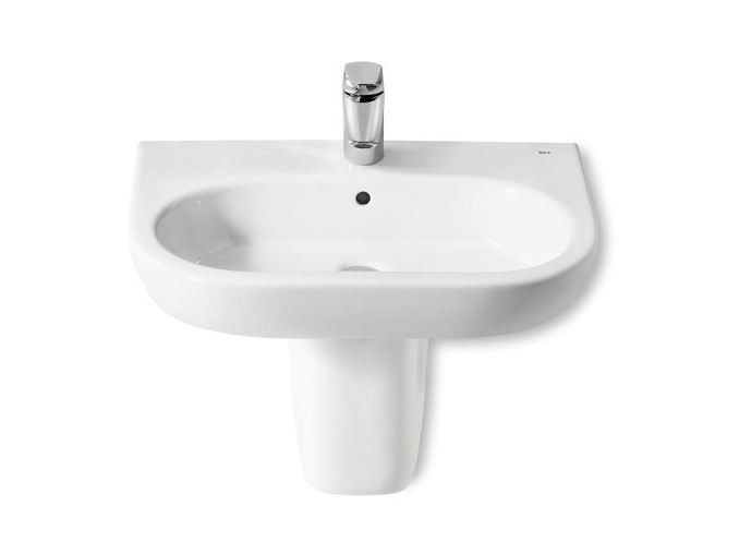 Single wall-mounted ceramic washbasin NEW MERIDIAN   Single washbasin - ROCA SANITARIO