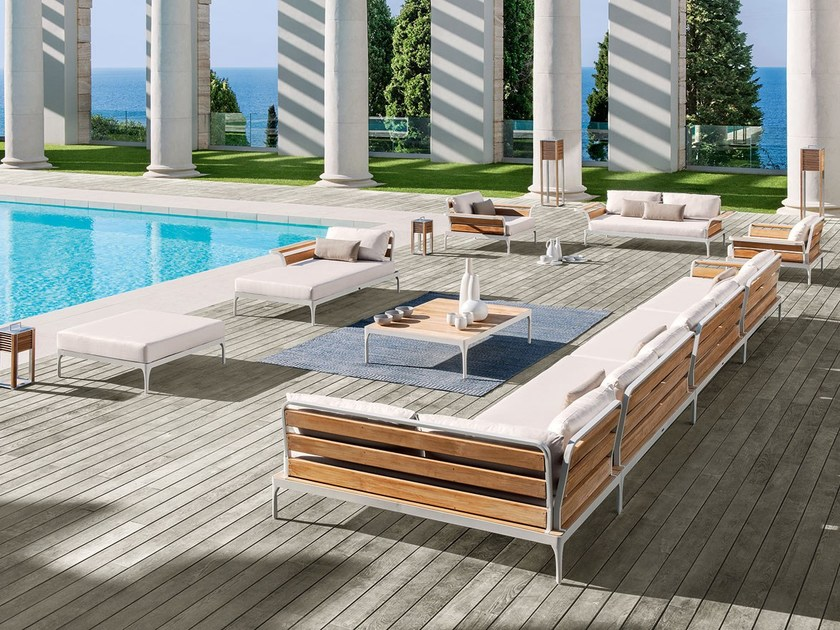 Sectional fabric garden sofa MERIDIEN | Sectional sofa - Ethimo
