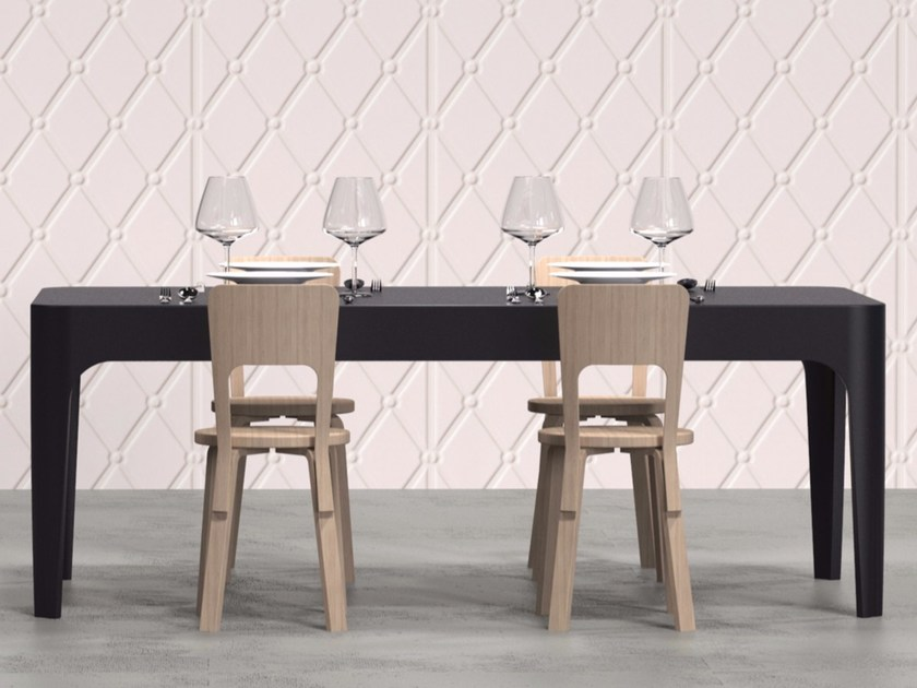Tavolo / scrivania rettangolare in Adamantx® MERLOT - ZAD ITALY