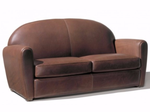Upholstered 3 seater leather sofa MERMOZ | 3 seater sofa - Canapés Duvivier