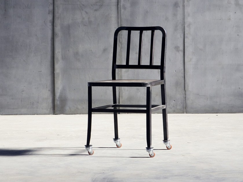 Metal chair with casters METAL CHAIR | Chair with casters - Heerenhuis