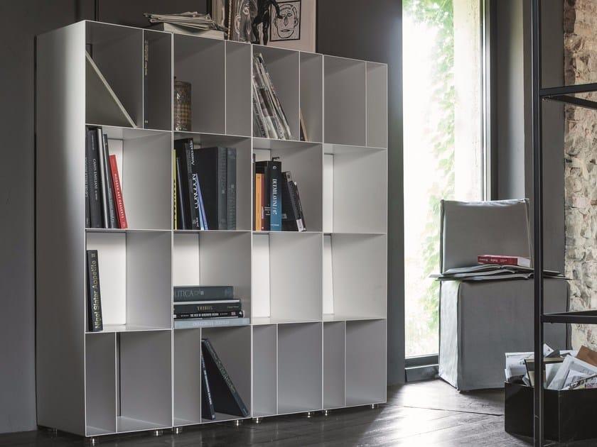 Libreria a giorno modulare in lamiera metal libreria for Libreria modulare