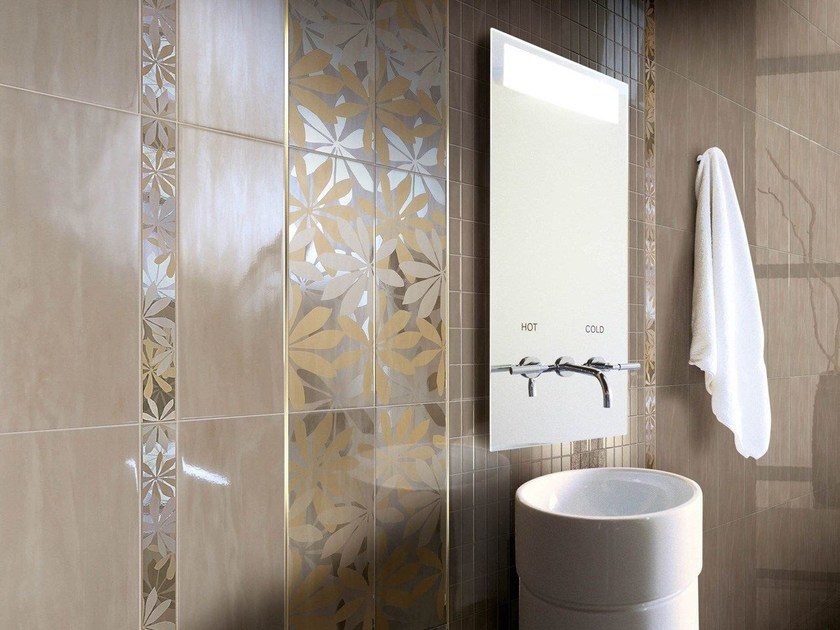 Porcelain stoneware wall tiles JE LUSTRE METALFLEUR by CERAMICHE BRENNERO