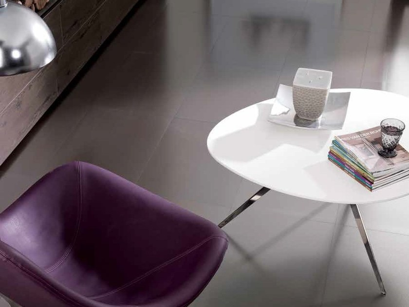 Porcelain stoneware flooring with metal effect METALKER by Venis
