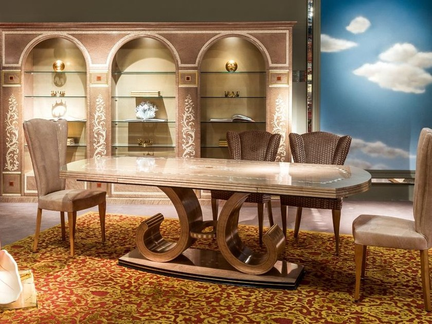 Extending wooden table METAMORFOSI | Extending table - Carpanelli Classic