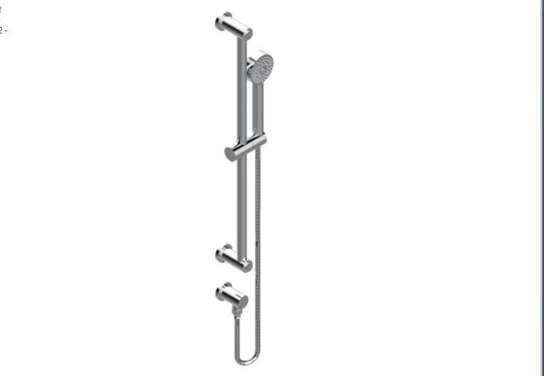Contemporary style chrome-plated metal shower mixer with hand shower with polished finishing METAMORPHOSE | Shower mixer - INTERCONTACT