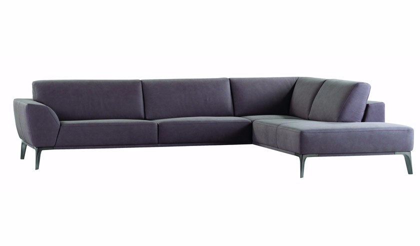 Corner leather sofa METEORE - ROCHE BOBOIS