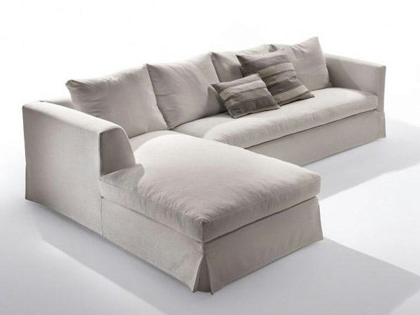 Fabric sofa with chaise longue METRO | Sofa with chaise longue by Marac