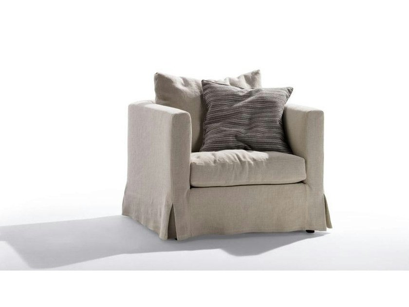 Fabric armchair with removable cover METRO | Armchair - Marac
