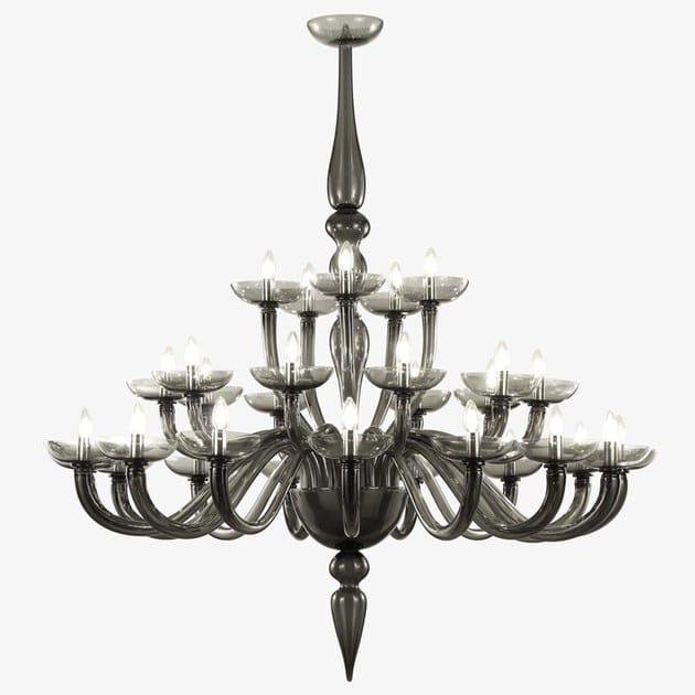 Classic style glass chandelier METROPOLE | Murano glass chandelier by MULTIFORME