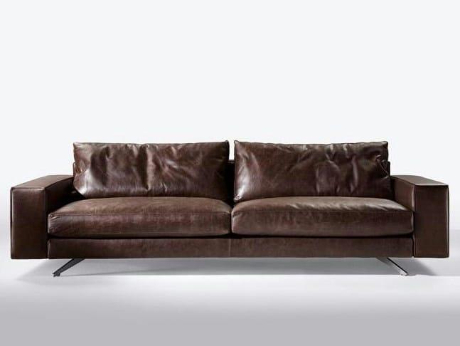 4 seater leather sofa METROPOLI | 4 seater sofa by Marac