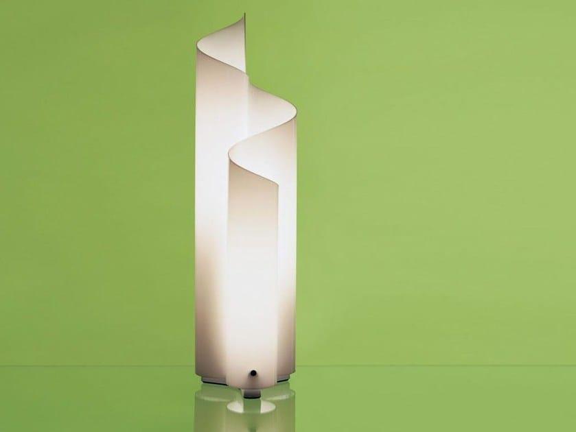 Halogen methacrylate table lamp MEZZACHIMERA - Artemide Italia