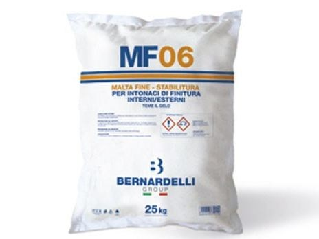 Hydraulic and hydrated lime based plaster MF06 - Bernardelli Group