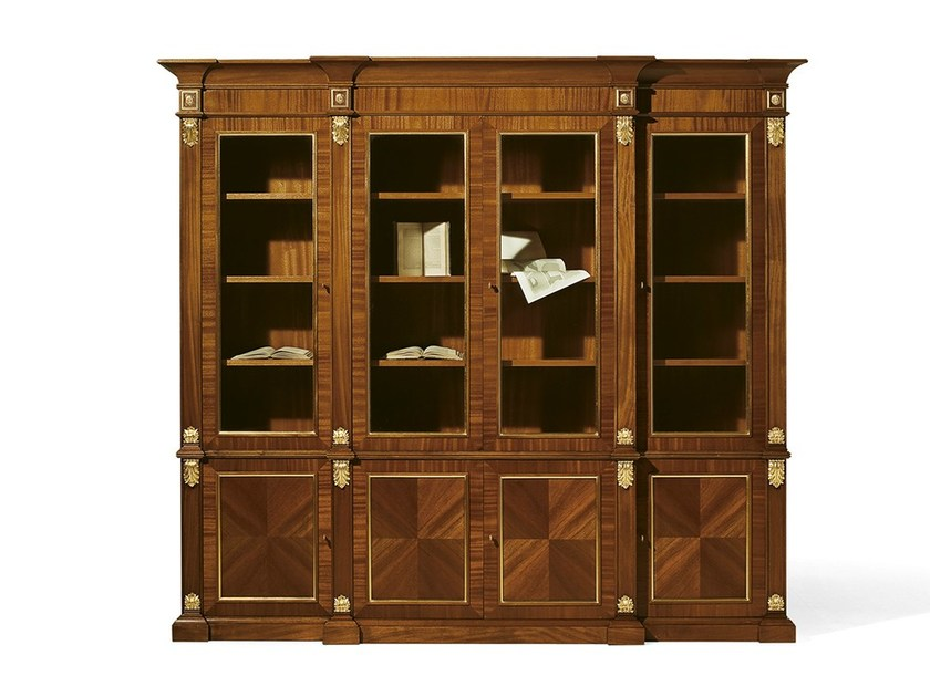 Mahogany bookcase MG 1030 - OAK Industria Arredamenti