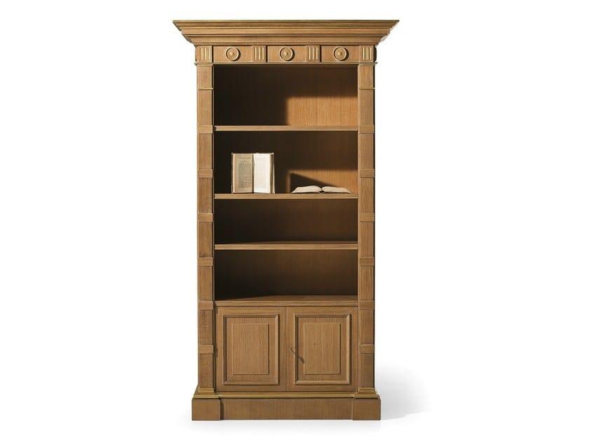 Open oak bookcase MG 1050/ROV - OAK Industria Arredamenti