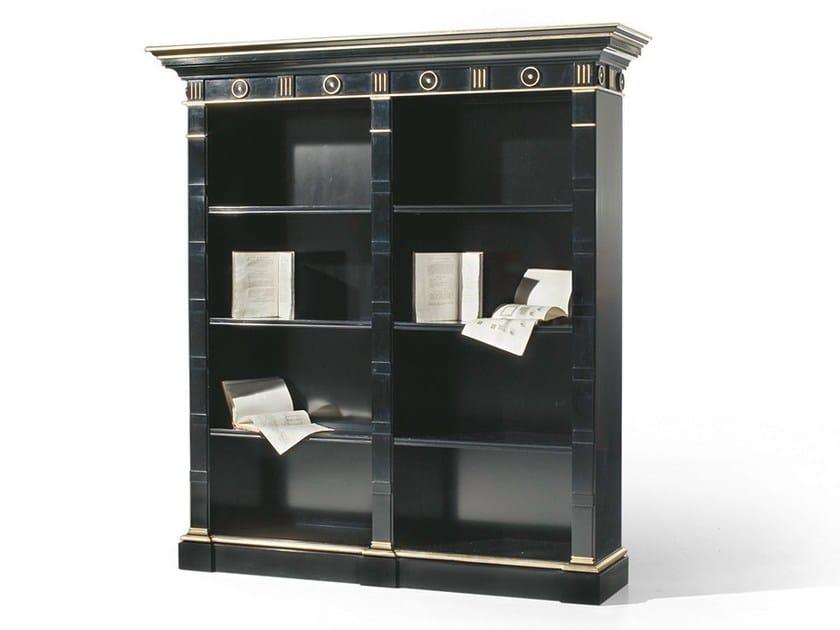 Open lacquered wooden bookcase MG 1060 - OAK Industria Arredamenti