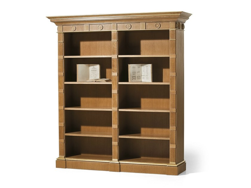 Open oak bookcase MG 1070/ROV - OAK Industria Arredamenti