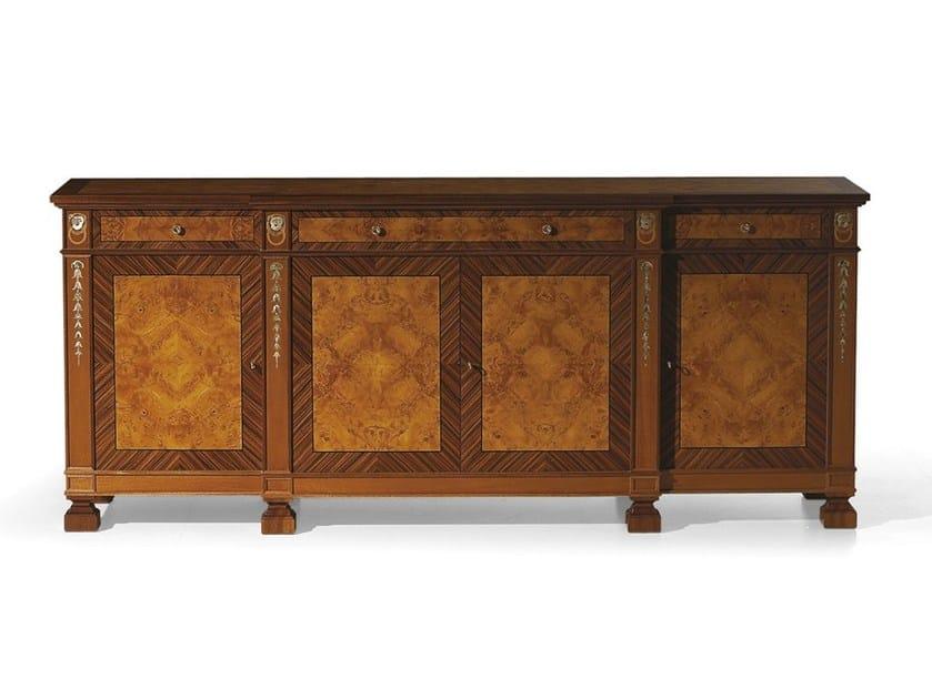 Wooden sideboard with doors MG 1182 - OAK Industria Arredamenti
