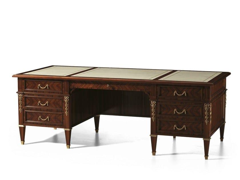 Rosewood writing desk with drawers MG 1226 - OAK Industria Arredamenti