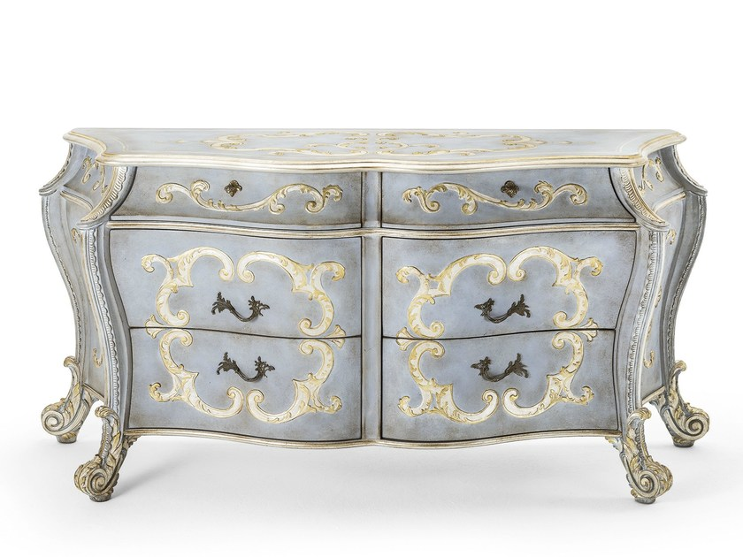 Lacquered wooden sideboard with drawers MG 1311 by OAK