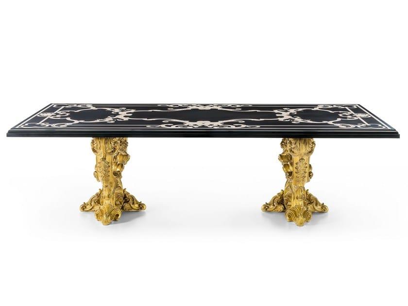 Classic style rectangular dining table MG 1313 - OAK Industria Arredamenti
