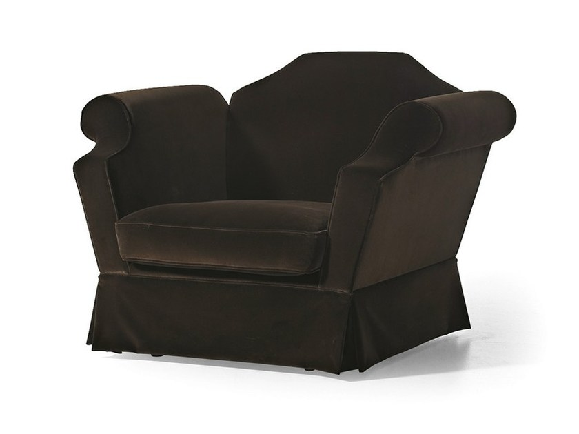 Upholstered fabric armchair with armrests MG 3071 - OAK Industria Arredamenti