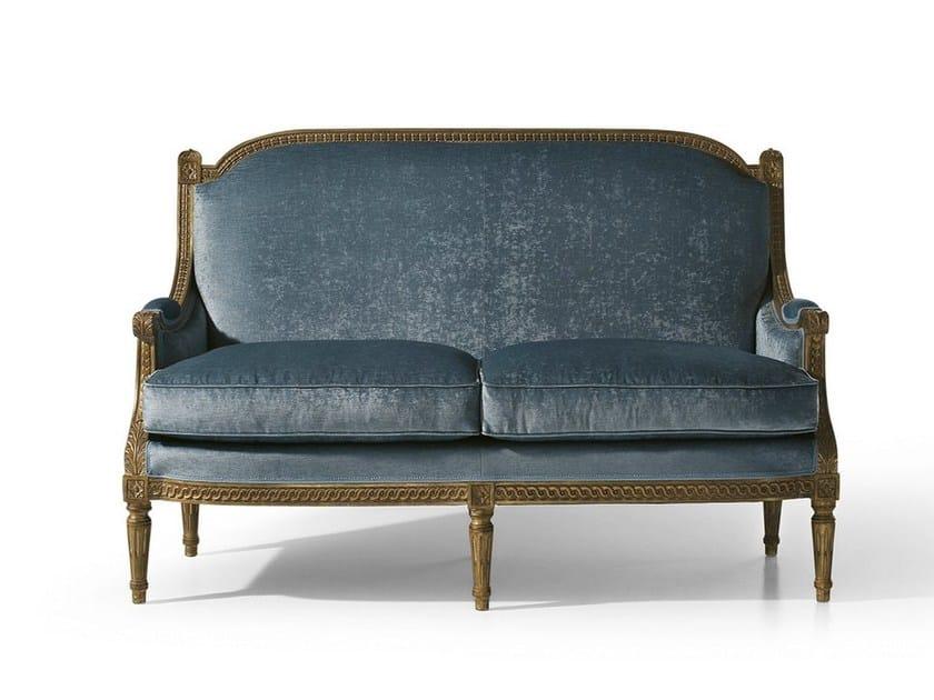 Louis XVI 2 seater fabric sofa MG 3142 - OAK Industria Arredamenti