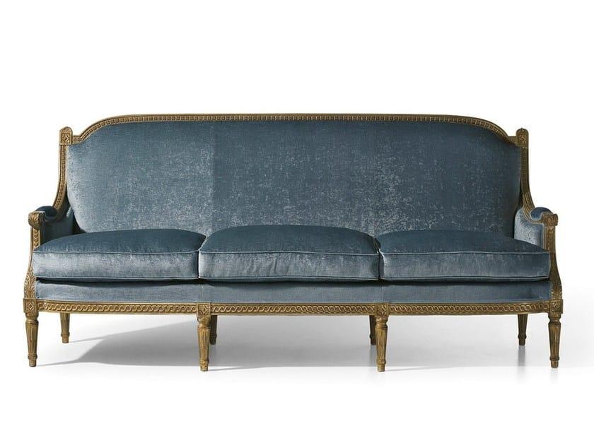Louis XVI 3 seater fabric sofa MG 3143 - OAK Industria Arredamenti