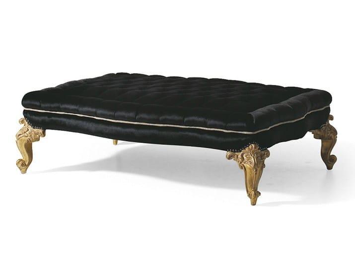 Upholstered fabric pouf MG 3240 by OAK